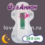 Внешний вид ночной анионовой прокладки «О2&Анион»